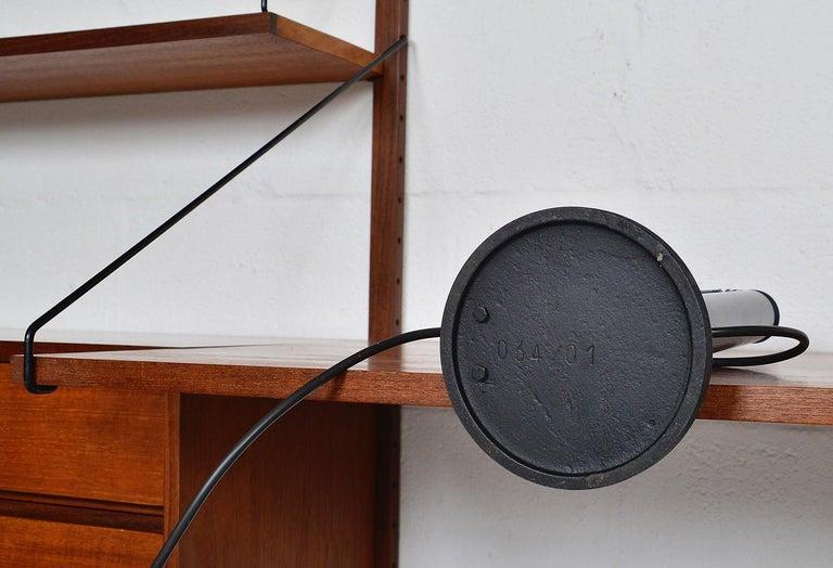 Midcentury Stilnovo Italian Periscopio Black Desk Table Lamp by D&C Aroldi, 1968 For Sale 5