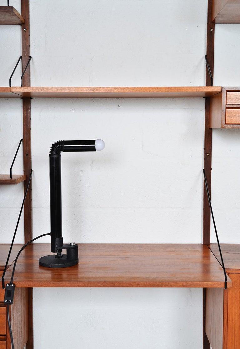 Midcentury Stilnovo Italian Periscopio Black Desk Table Lamp by D&C Aroldi, 1968 For Sale 6
