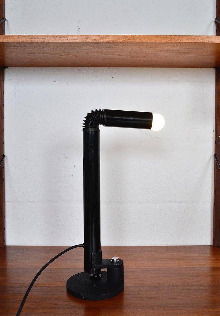 Midcentury Stilnovo Italian Periscopio Black Desk Table Lamp by D&C Aroldi, 1968 For Sale 7