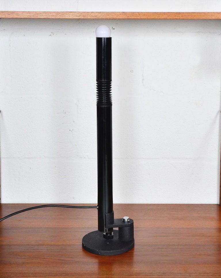 Midcentury Stilnovo Italian Periscopio Black Desk Table Lamp by D&C Aroldi, 1968 In Good Condition For Sale In Sherborne, Dorset