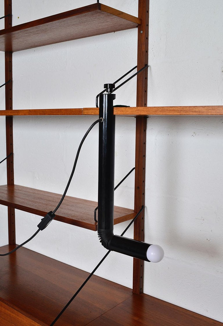 Aluminum Midcentury Stilnovo Italian Periscopio Black Desk Table Lamp by D&C Aroldi, 1968 For Sale