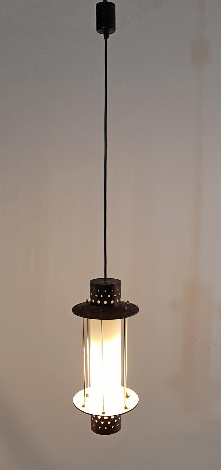 Mid-Century Modern Midcentury Stilnovo Pendant, Italy For Sale