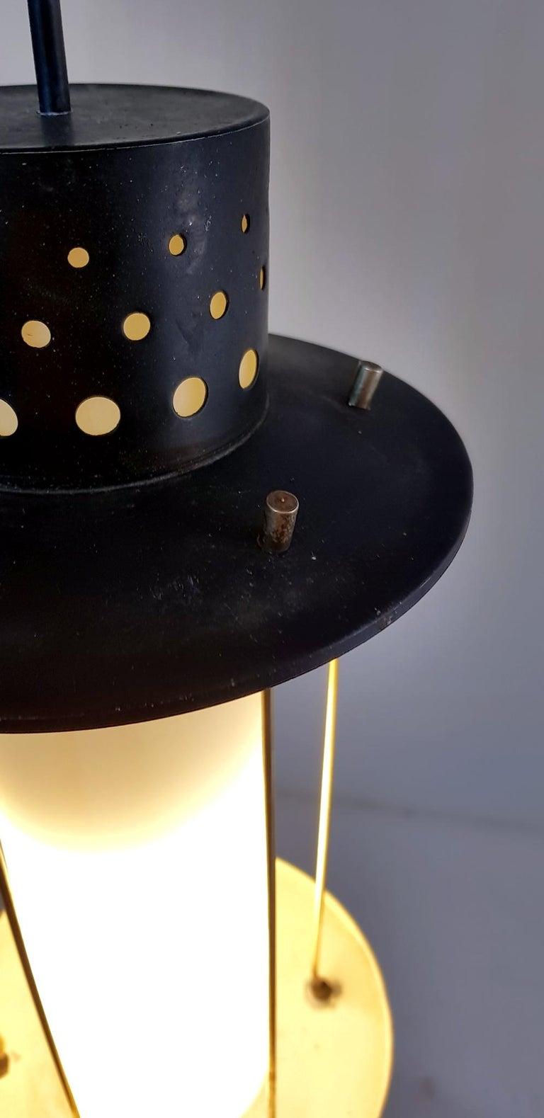 Midcentury Stilnovo Pendant, Italy In Good Condition For Sale In Albano Laziale, Rome/Lazio