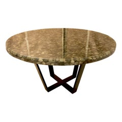 Midcentury Stone and Resin Dining Table