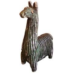 Midcentury Stoneware Llama by Fabbri Art Company