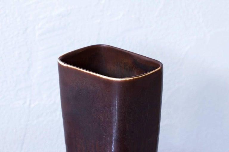 Scandinavian Modern Midcentury Stoneware Vase by Carl-Harry Stålhane for Rörstrand, Sweden For Sale