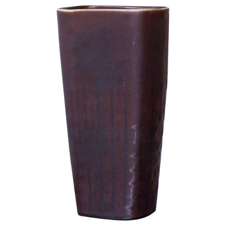 Midcentury Stoneware Vase by Carl-Harry Stålhane for Rörstrand, Sweden For Sale