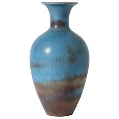 Midcentury Stoneware Vase by Gunnar Nylund for Rörstrand, Sweden, 1950s