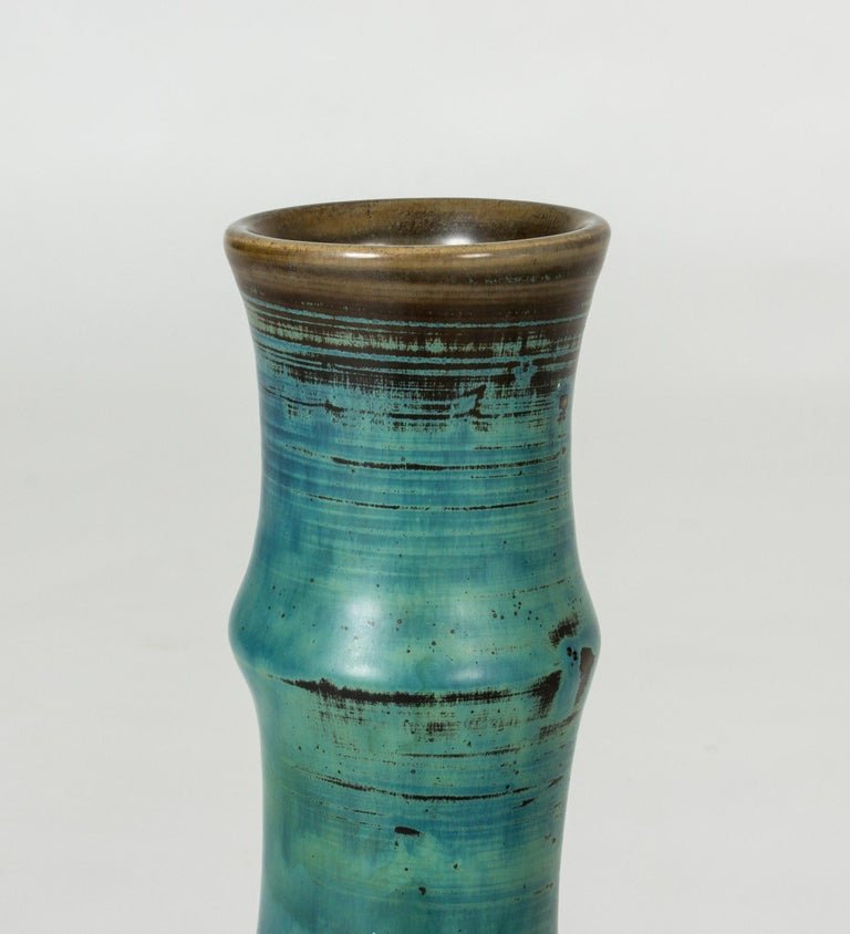 Swedish Midcentury Stoneware Vase by Stig Lindberg For Sale