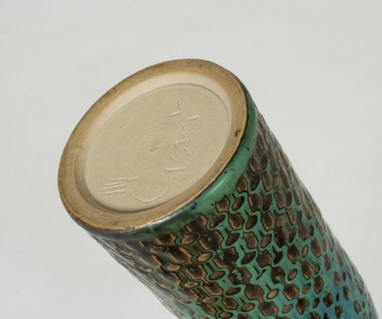 Midcentury Stoneware Vase by Stig Lindberg For Sale 1
