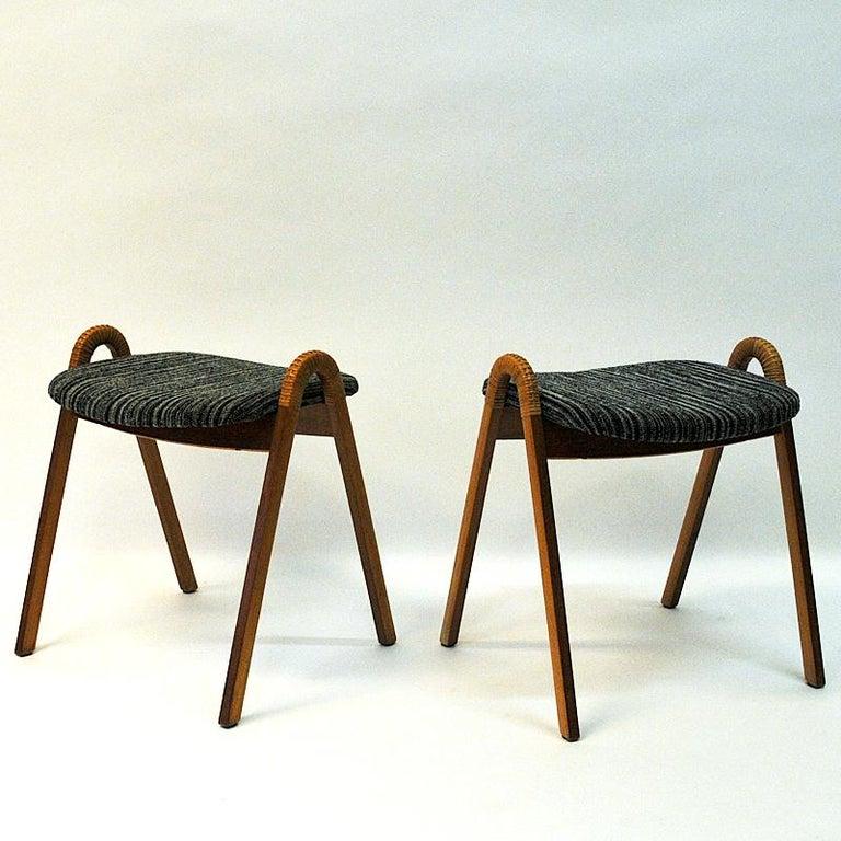 Scandinavian Modern Midcentury stools by Møre Lenestolfabrikk 1950s, Norway - 2 pcs