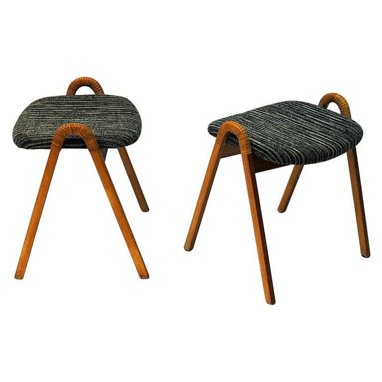 Midcentury stools by Møre Lenestolfabrikk 1950s, Norway - 2 pcs