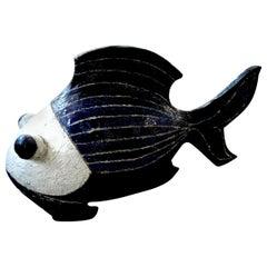 Midcentury Studio Art Pottery Fish Sculpture