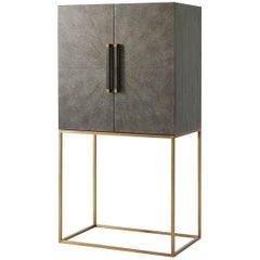 Midcentury Style Bar Cabinet, Dark