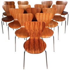 Midcentury Style Bentwood Stacking Chairs