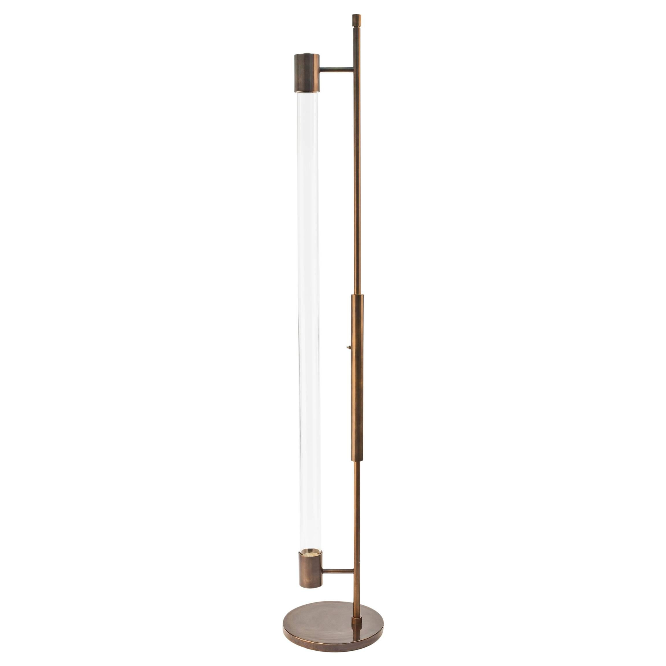 Mid-century Style Floor Lamp in Oil Rubbed Bronze by Carbonell Design