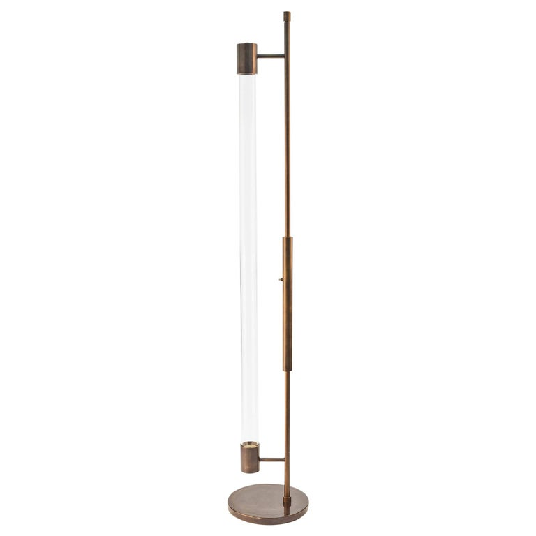 Mid-century Style Floor Lamp in Oil Rubbed Bronze by Carbonell Design For Sale