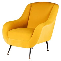 Midcentury Style Italian Lounge Chair Yellow
