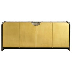 Midcentury Style Marble-Top Credenza