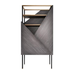 Midcentury Style, Tuxedo Cabinet, a Touch of Glam for Living Room, Made in Italy