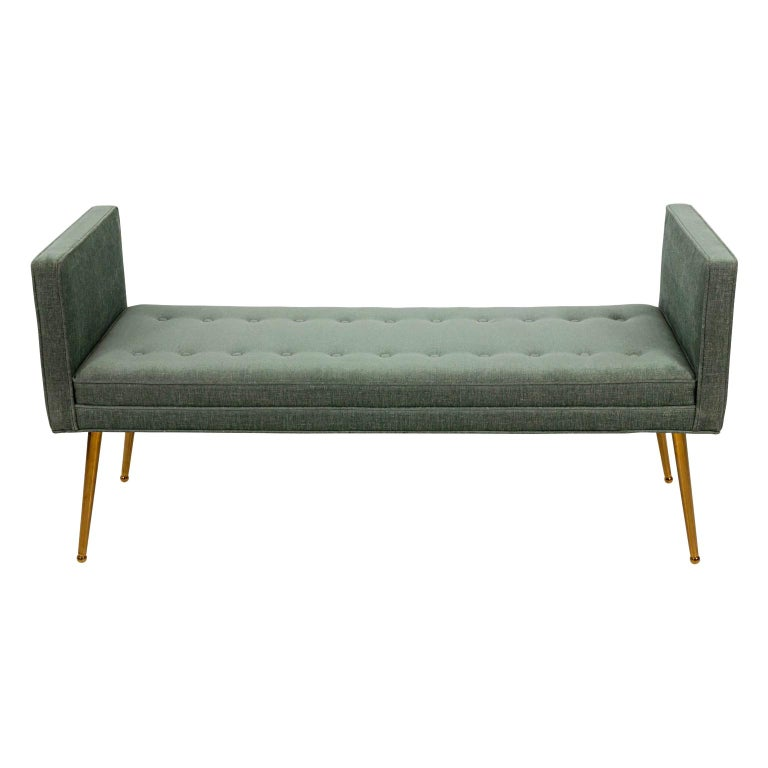 Midcentury Style Upholstered Bench For Sale