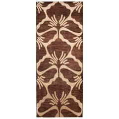 Midcentury Style Vintage Indian Large Wool Rug