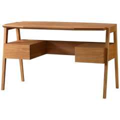 Midcentury Style Wooden Writing Desk in Cherrywood with Drawers