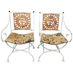 Midcentury Sunburst Chairs by Umanoff