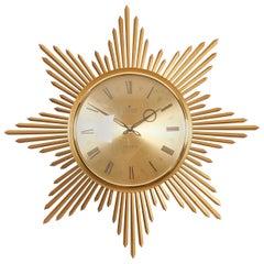 Midcentury Sunburst Junghans Ato-Mat Wall Clock