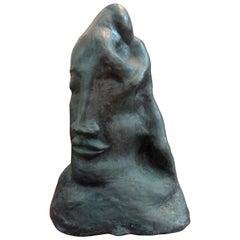 Midcentury Surrealist Bronze Bust after Salvador Dali