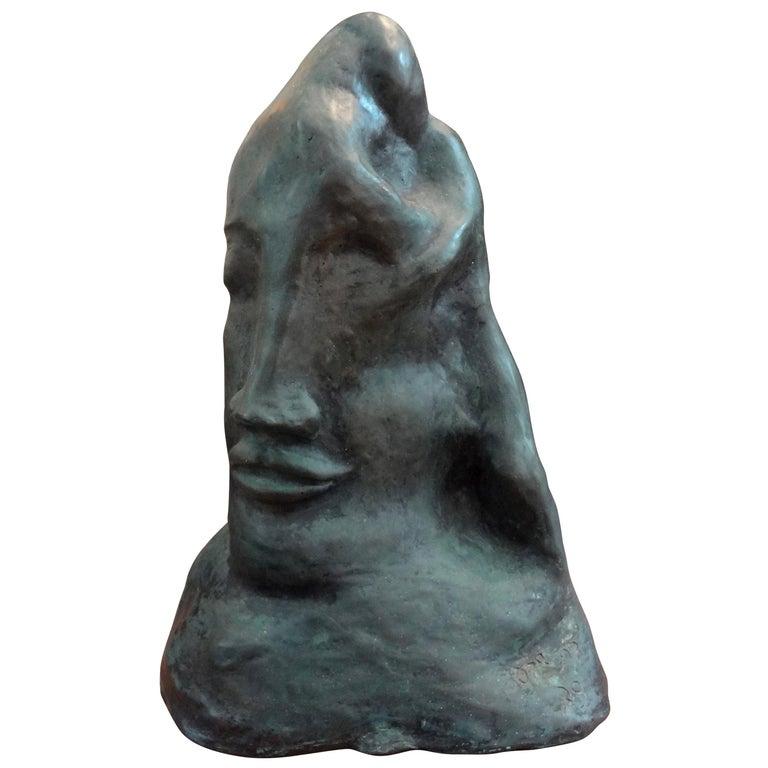 Midcentury Surrealist Bronze Bust after Salvador Dali For Sale