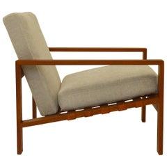 Midcentury Svante Skogh Easy Chair with Leather Webbing