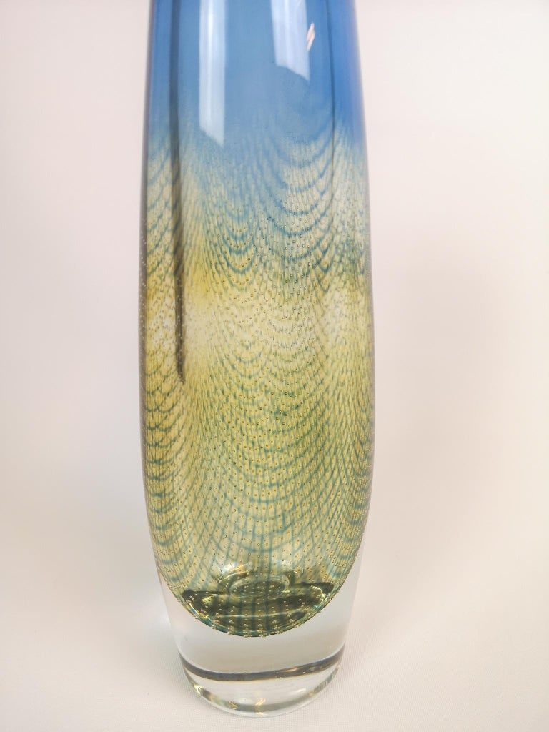 Midcentury Sven Palmqvist Orrefors Kraka Crystal Vase In Good Condition For Sale In Langserud, SE