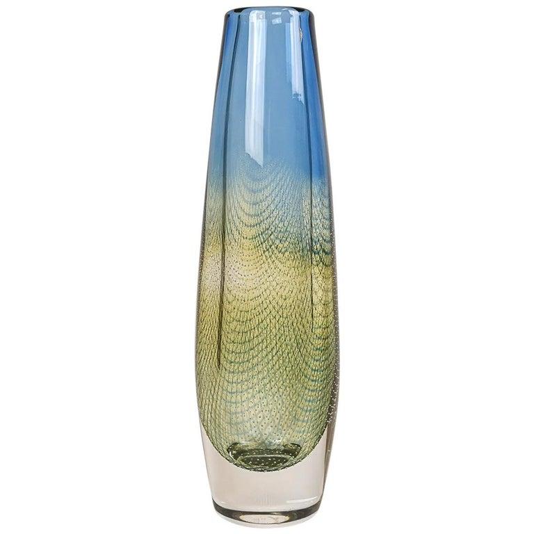 Midcentury Sven Palmqvist Orrefors Kraka Crystal Vase For Sale