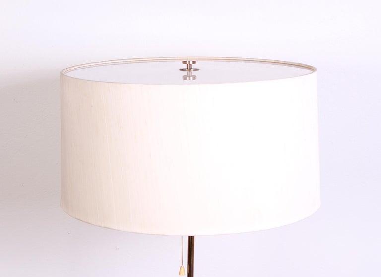 Midcentury Swedish Brass and Teak Floor Lamp by Bergboms, 1950s 1