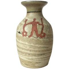 Midcentury Swedish Ceramic Vase by Birgitta Lind for Lillterrsjö Keramik