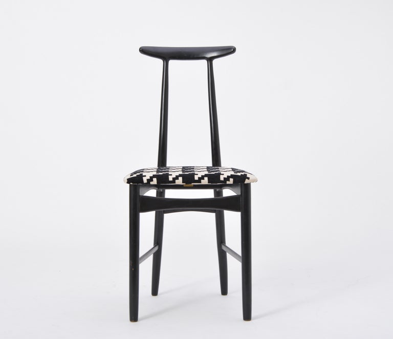 Lacquered Swedish Mid-Century Modern chair by Gemla Diö For Sale