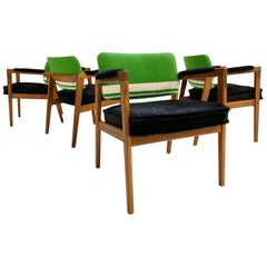 Midcentury Swedish Chairs in Brazilian Cowhide and Isabel Marant Silk Wool