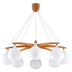 Midcentury Swedish Chandelier by Luxus, Sweden