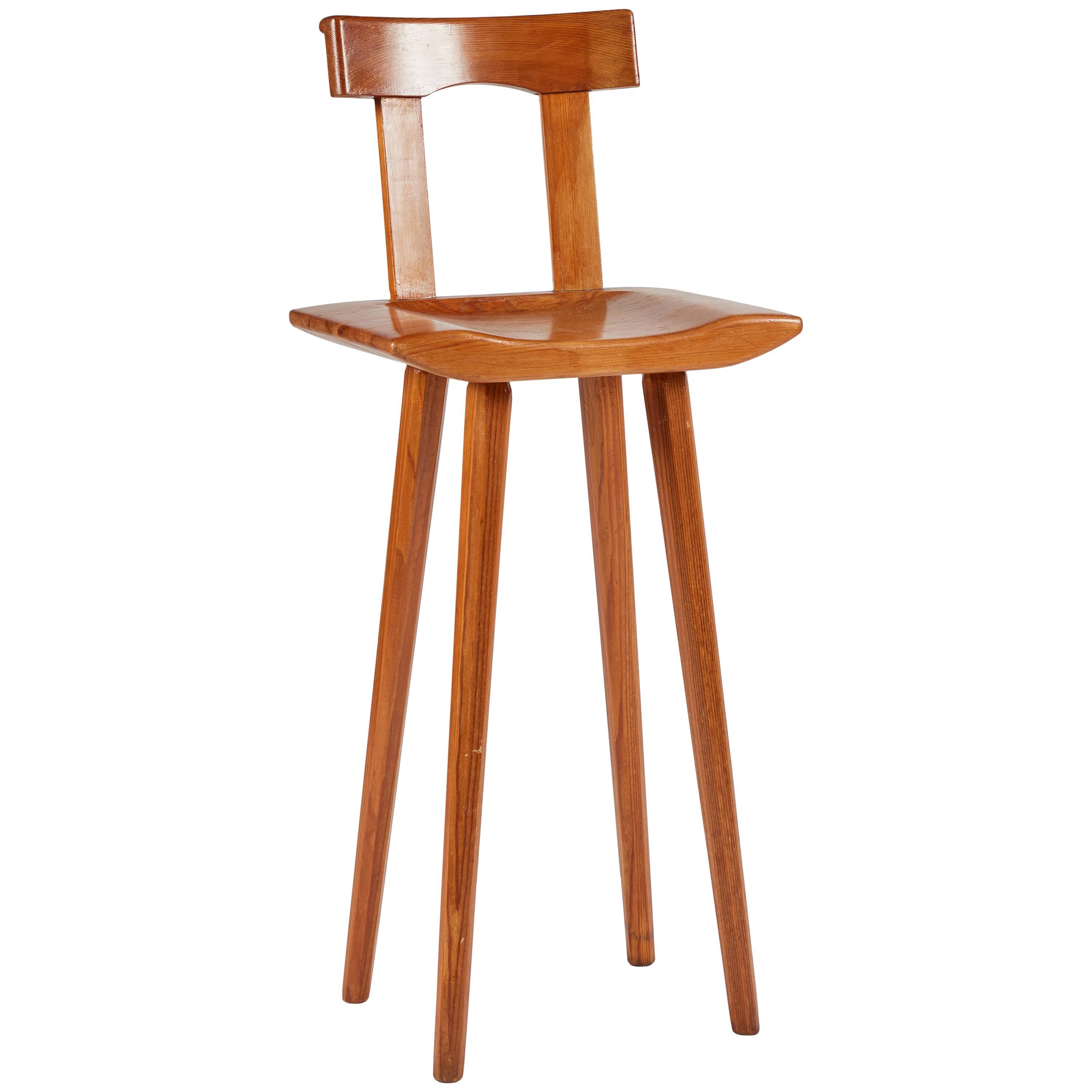 Midcentury Swedish Child's High Chair or Stool by Bengt Lundgren