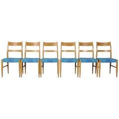 Midcentury Swedish Dining Chairs, 1960s, Set of Six