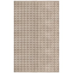 Midcentury Swedish Dots and Ovals Shaped Wool Rug
