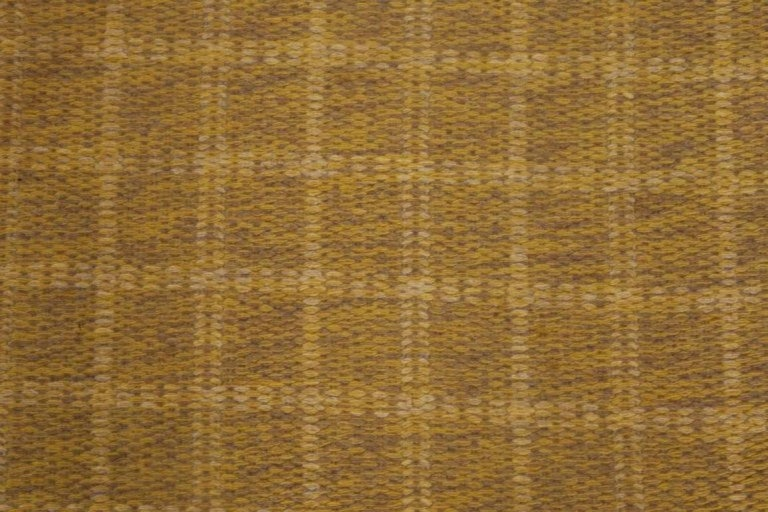 Midcentury Swedish double-sided brown flat-weave rug Size: 4'10