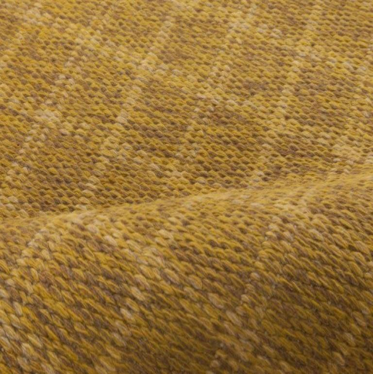 Mid-Century Modern Midcentury Swedish Double-Sided Brown Flat-Weave Rug For Sale