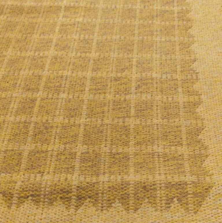 Midcentury Swedish Double-Sided Brown Flat-Weave Rug In Good Condition For Sale In New York, NY