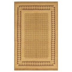 Midcentury Swedish Double Sided Flat-Weave Rug