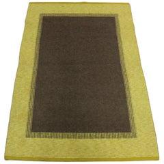 Midcentury Swedish Flat-Weave Carpet, 1950s