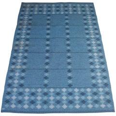 Midcentury Swedish Flat-Weave Carpet by Ingrid Dessau, 1950s