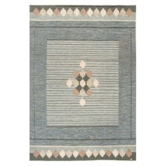 Midcentury Swedish Flat-Weave Rug Signed by Ingegerd Silow