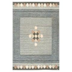 Midcentury Swedish Flat-Weave Rug Signed by Ingegerd Silow